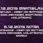 Spoločné koncerty KEEP ON ROTTING, GOD DEFAMER a HOLOTROPIC v dvoch slovenských mestách