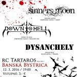 Turné Dark and Loud pokračuje v Banskej Bystrici: Do Tartarosu mieria DOWN TO HELL s dvoma hosťami