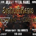 Slovensko-česká heavy metalová párty v Bratislave: SIGNUM REGIS, SEBASTIEN a CASTAWAY