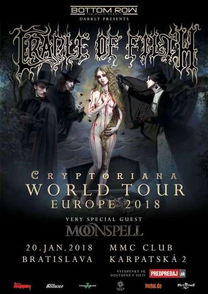 Cradle of Filth a Moonspell v Bratislave