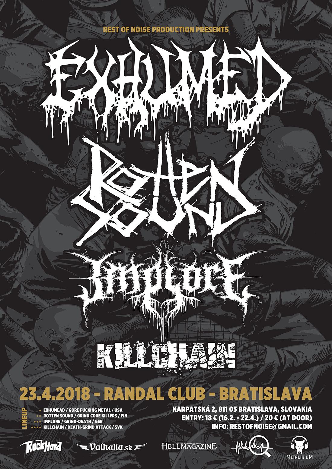 Exhumed a Rotten Sound v Bratislave