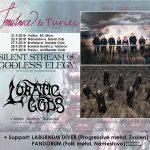 SILENT STREAM OF GODLESS ELEGY a LUNATIC GODS na spoločnom turné, navštívia 5 slovenských miest
