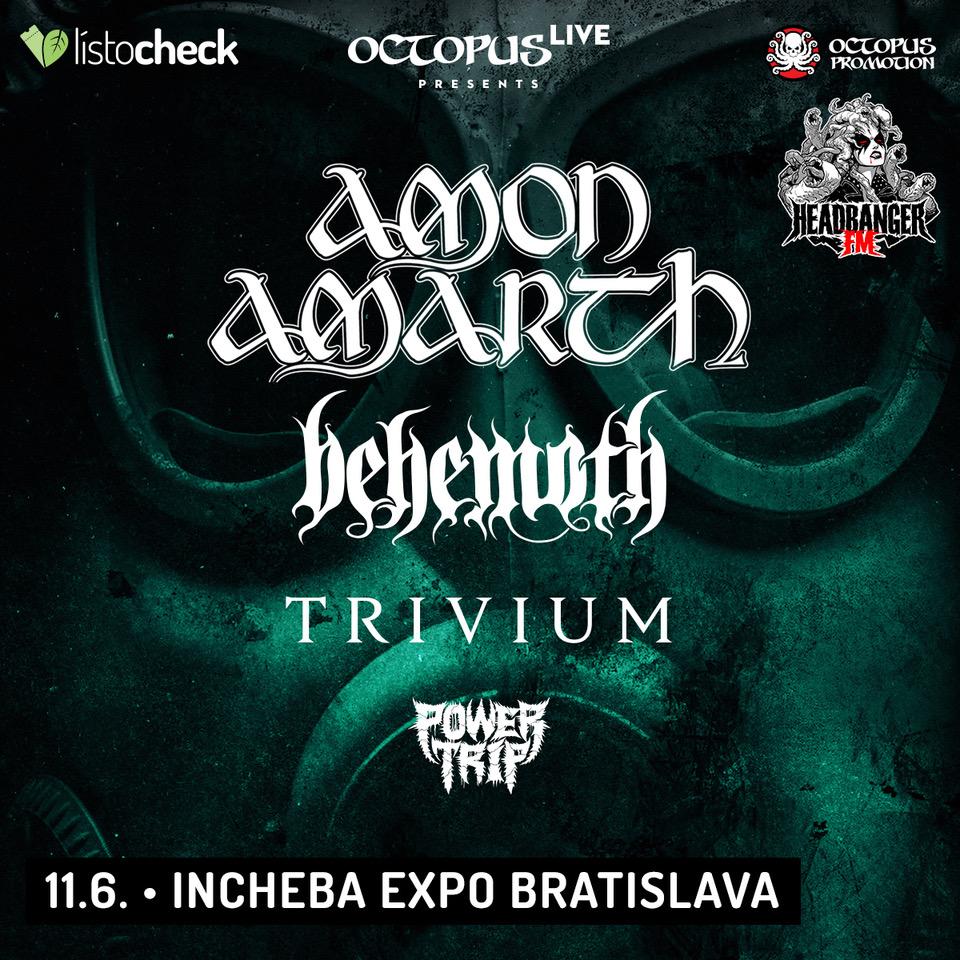 AMON AMARTH, BEHEMOTH a TRIVIUM na Slovensku - Octopus LIVE