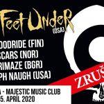 Aprílový koncert SIX FEET UNDER v Bratislave sa ruší
