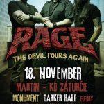 RAGE vyrážajú v novembri na európske turné: Neminú ani Slovensko, predstavia sa v Martine