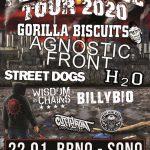 Persistence Tour: Skvelá zostava v čele s GORILLA BISCUITS a AGNOSTIC FRONT v Brne
